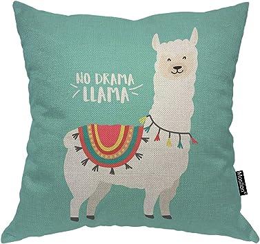 Amazon.com: Moslion Llama - Cojín con diseño de animales ...