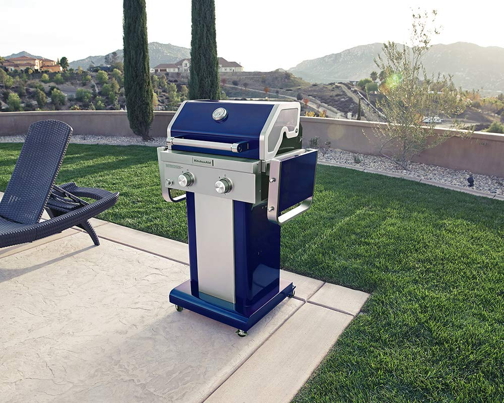 Blue KitchenAid 720-0891G Full-Size Propane Gas Grill