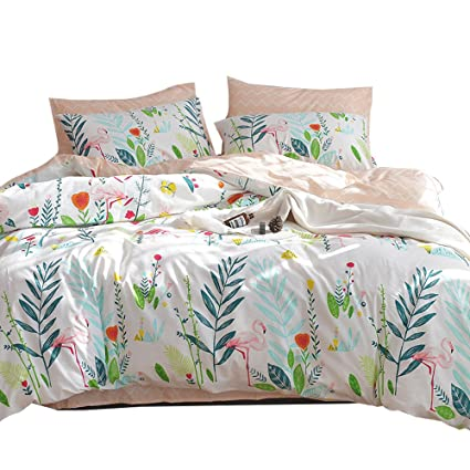 OTOB New Cotton Queen Duvet Cover Set For Girls Kids Adults Teen Bedding  Sets With 2