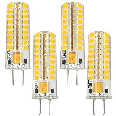 MENGS® 4 Stück GY6.35 5W LED Lampe Warmweiß 3000K AC/DC 12V 72x2835 SMD Mit Silikon Mantel