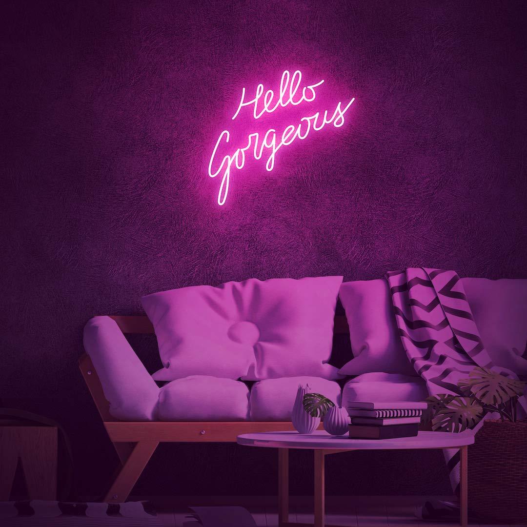Neon Sign Aesthetic TikTok Room Handmade Home Wall Decor Custom Streamer Game Room Retro LED Light Modern Blessed 30x10x1in