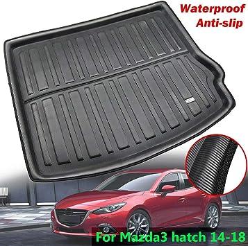 PREMIUM Gummi-Kofferraumwanne mit Antirutsch 3D für Mazda 3 Schrägheck ab 2013