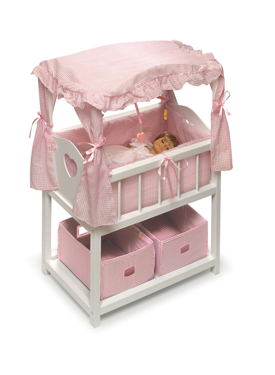 Amazoncom Badger Basket Canopy Doll Crib with