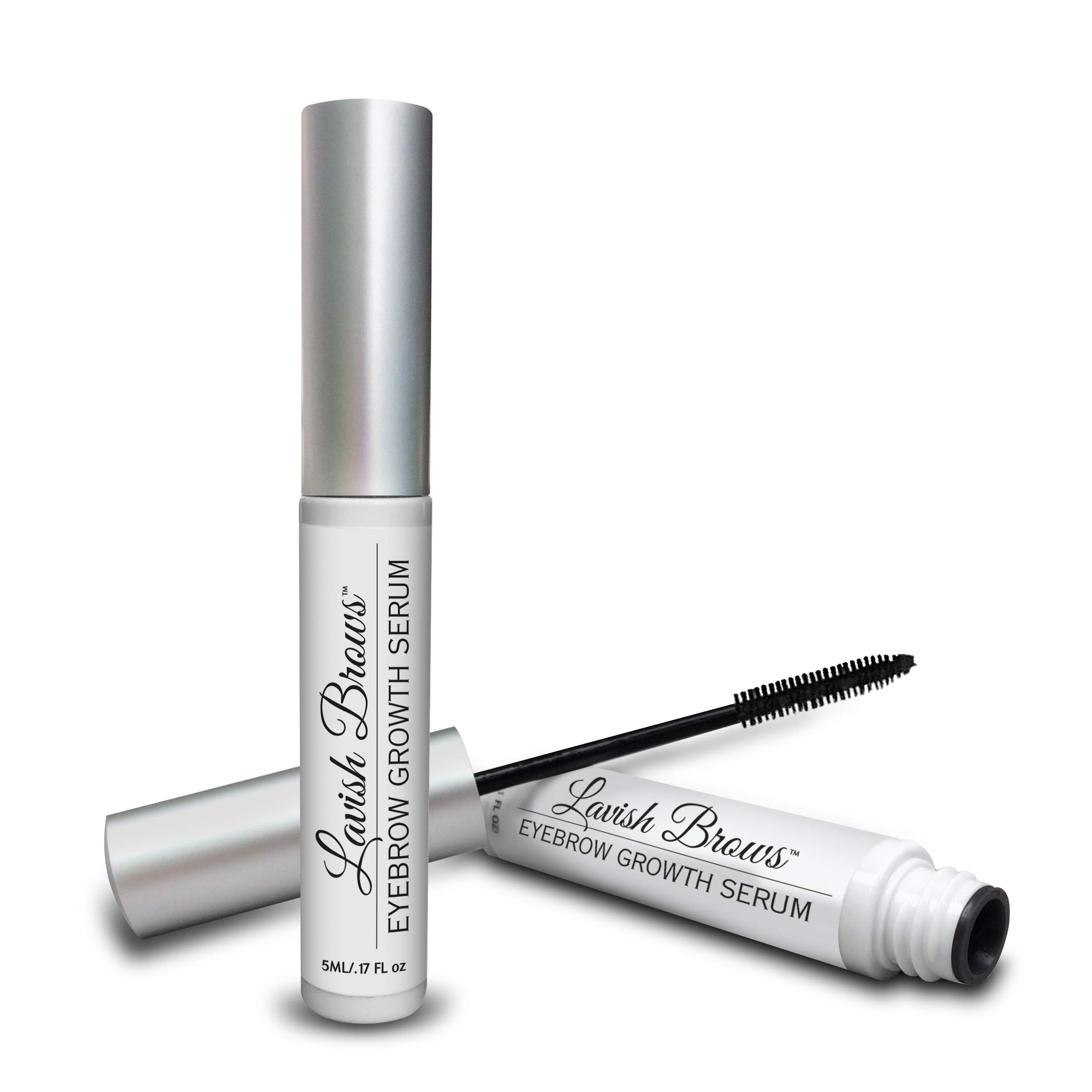 Pronexa Hairgenics Lavish Brows - Eyebrow Growth Enhancer Serum with Biotin, Castor Oil & Natural Growth Peptides for Long, Thick Looking Eyebrows! Dermatologist Certified & Hypoallergenic.