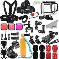 Kupton Accessories Kit Bundle for GoPro Hero 8 Black, Waterproof Housing + Sleeve Case + Filters + Head Chest Strap…