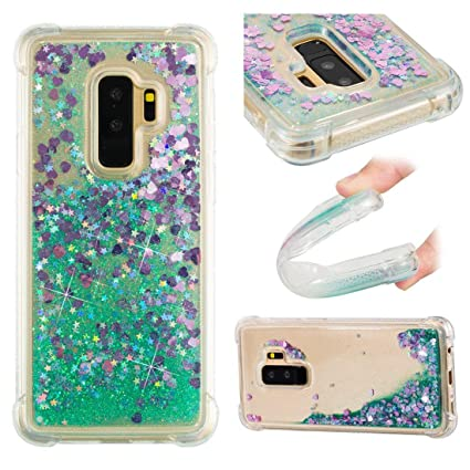 1aa76d9bec0 Dynamic Flowing Liquid Glitter Bling Sparkle Paillette Love Hearts Bumper  Shock Resistant Waterfall Moving Stars TPU