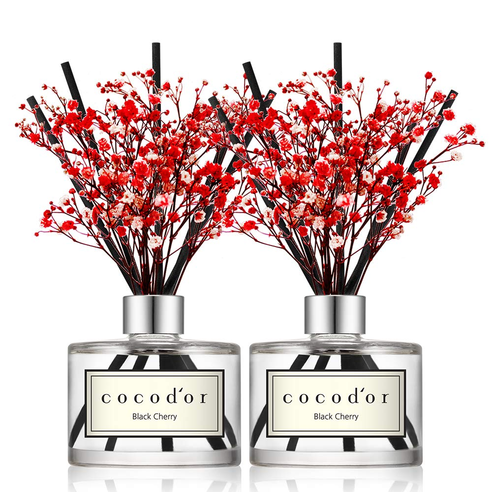 Cocod'or Flower Diffuser/6.7oz/Black Cherry/2 Pack by Cocod'or (Image #1)