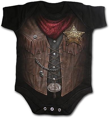 Spiral Espiral – Baby-Boys – bebé Sheriff – Baby para niño Negro