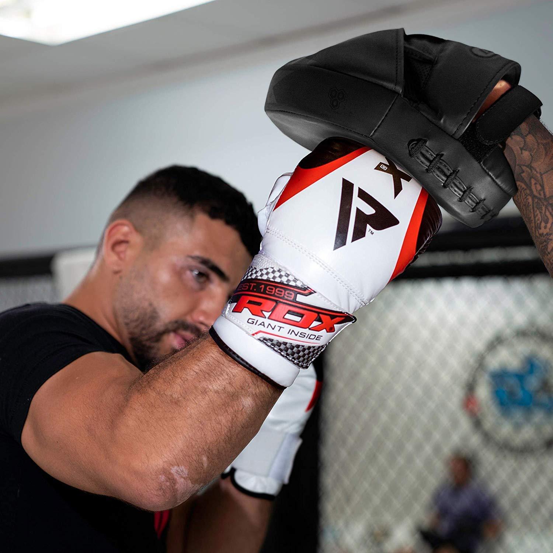 RDX Colpitori Boxe Pelle Coppia Scudo Sciopero Pastiglie Gancio Jab Thai Pao MMA Arti Marziali Allenamento