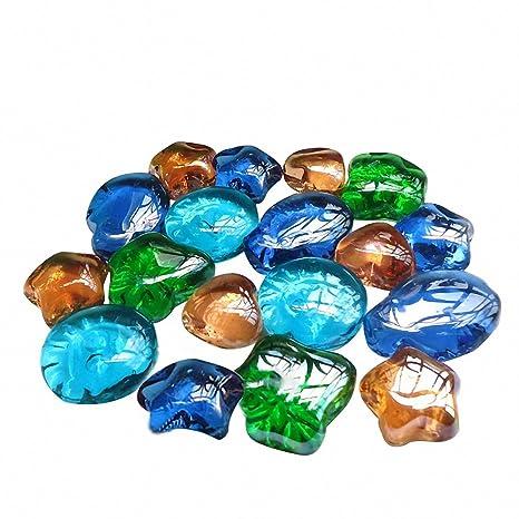 Acuario Piedra Decoración omem verde hojas de cristal piedras de cristal, Acuario Peces Tanque Grava