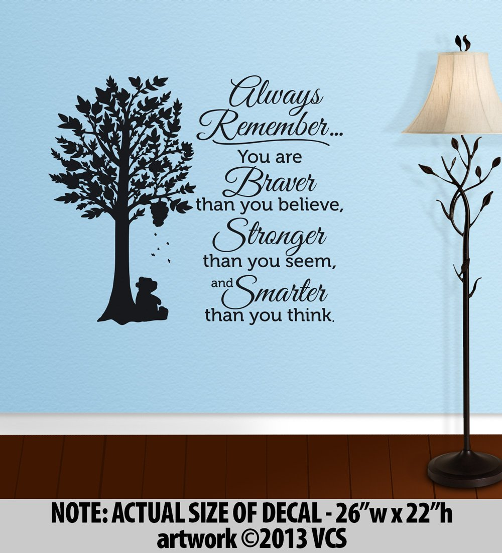 Amazon braver than you believe stronger than you seem amazon braver than you believe stronger than you seem smarter than you think large wall dcor sticker vinyl decal winnie the pooh quote home amipublicfo Images