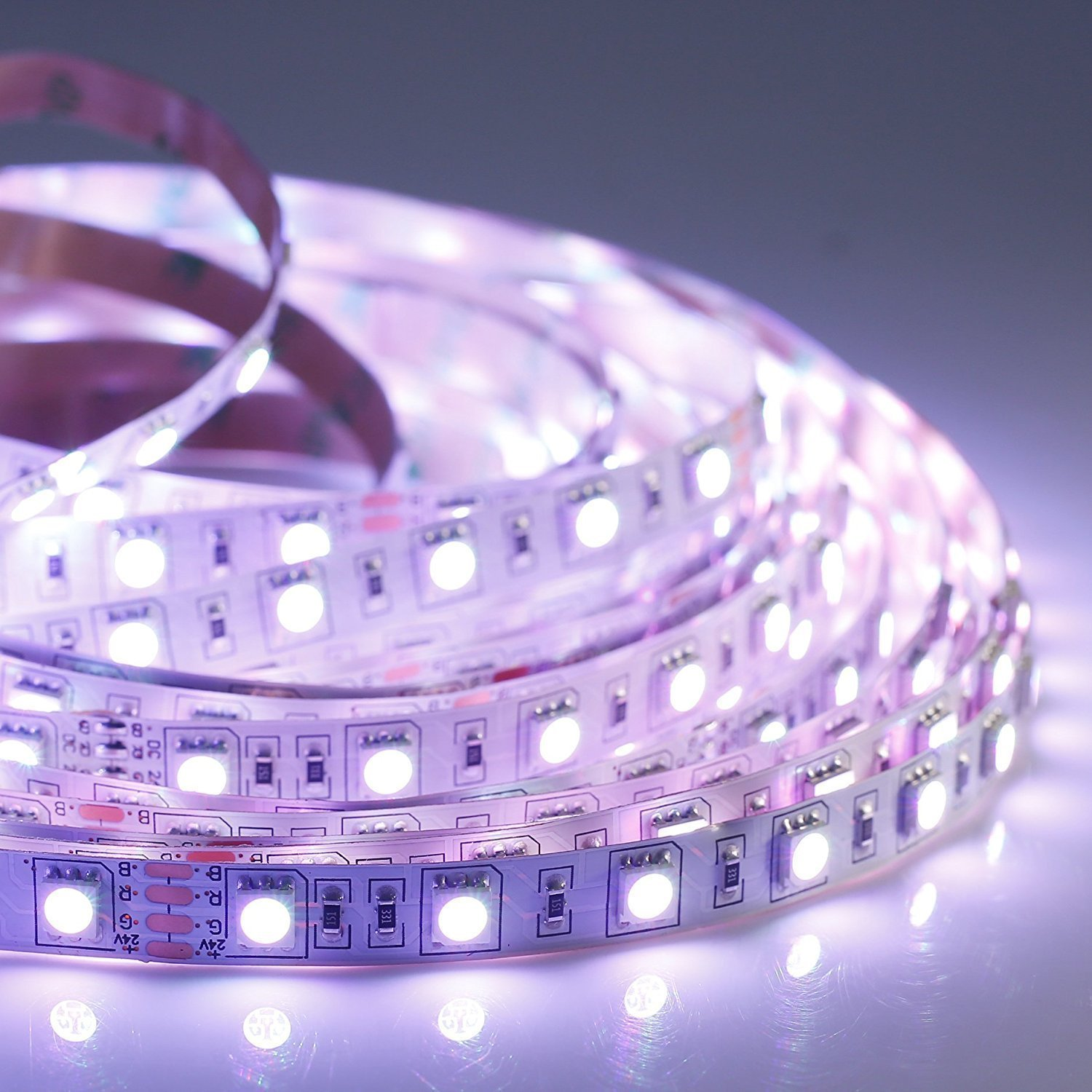 LED Strip Lights Kit, ALED Light LED Flexible Light Strip 32.8Ft/2x5M 5050 150LEDs Non-Waterproof RGB Strip Lighting with Remote DC 12V Power Supply for DIY/Christmas/Party/Decoration (2 Pack) by ALED LIGHT (Image #3)