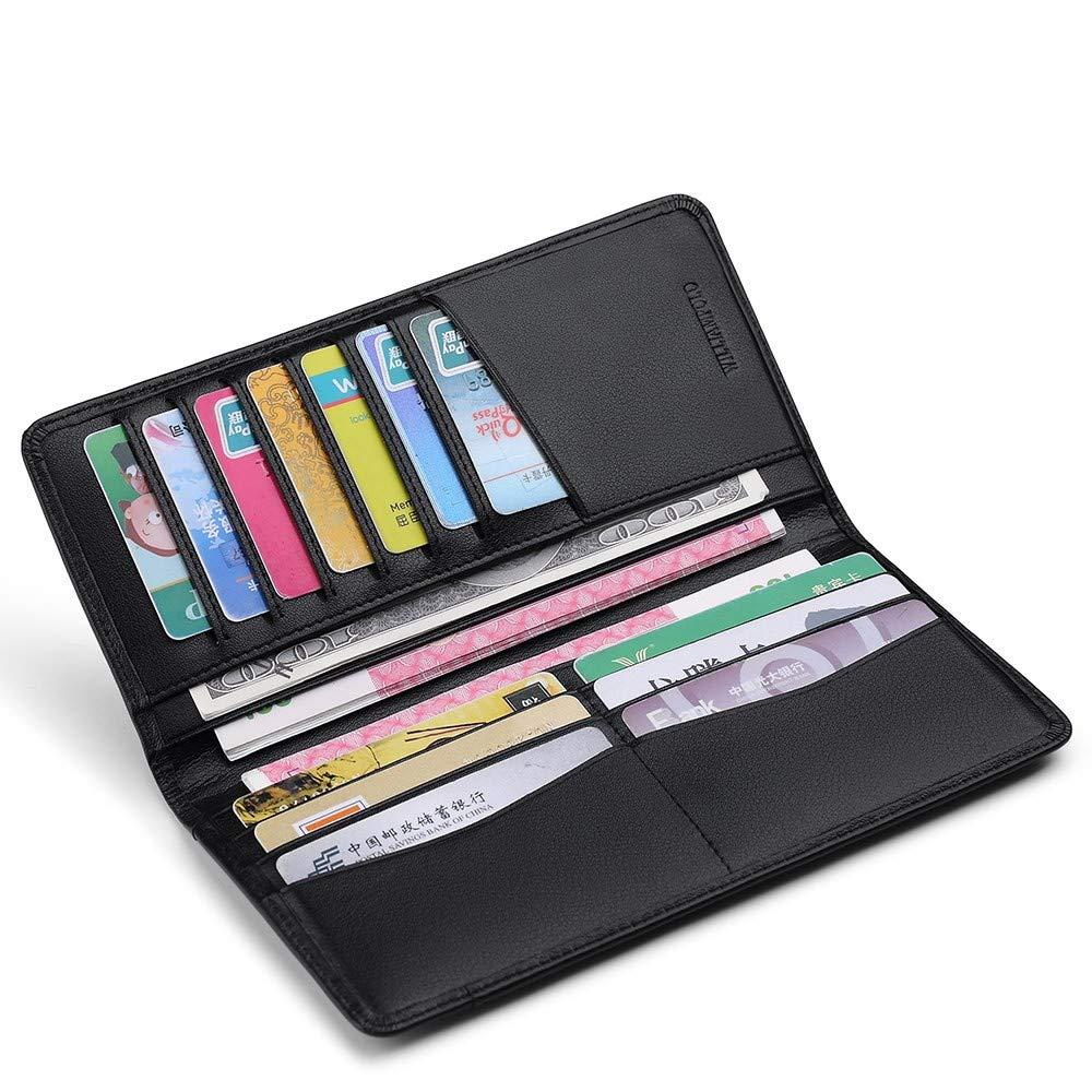 LMSHM Lange Brieftasche Für Herren Dünne Lange Clutch Bag Bag Bag Krotitkarteninhaber Herren Geldbörse Aus Leder,Blau,12.9  12  9.3Cm B07MH1B61X Geldbrsen c42f63