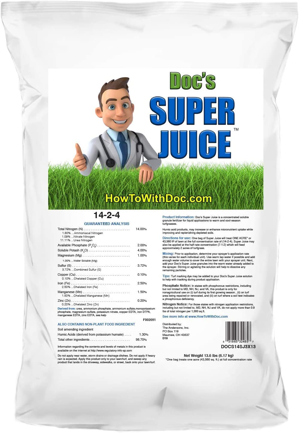 Super Juice All in One Soluble Supplement Lawn Fertilizer for St Augustine Grass