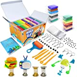 Modeling Clay Kit - 36 Colors Air Dry Magic Clay, Soft & Ultra Light DIY Molding Clay with Sculpting Tools, Animal…