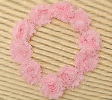 Chiffon flower White Shiny Shabby by yard Shabby Trim Shabby wholesale Shabby Flowers Shabby Rose Trim Shabby Flower Trim