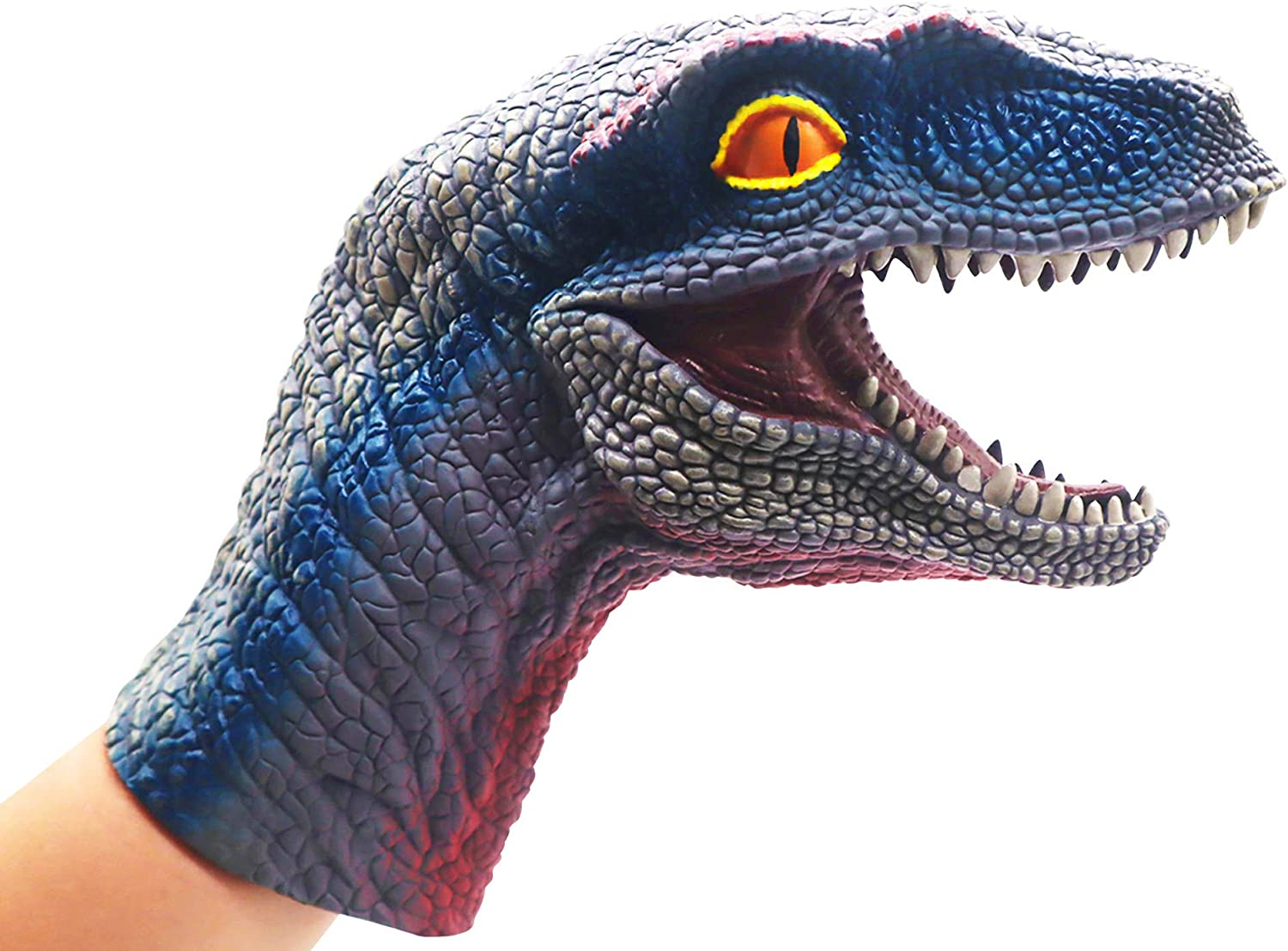 upour-Velociraptor Soft Hand Puppet,Animal Gloves,Dinosaur Kids Toys,Child Birthday Present for 3 Years Old