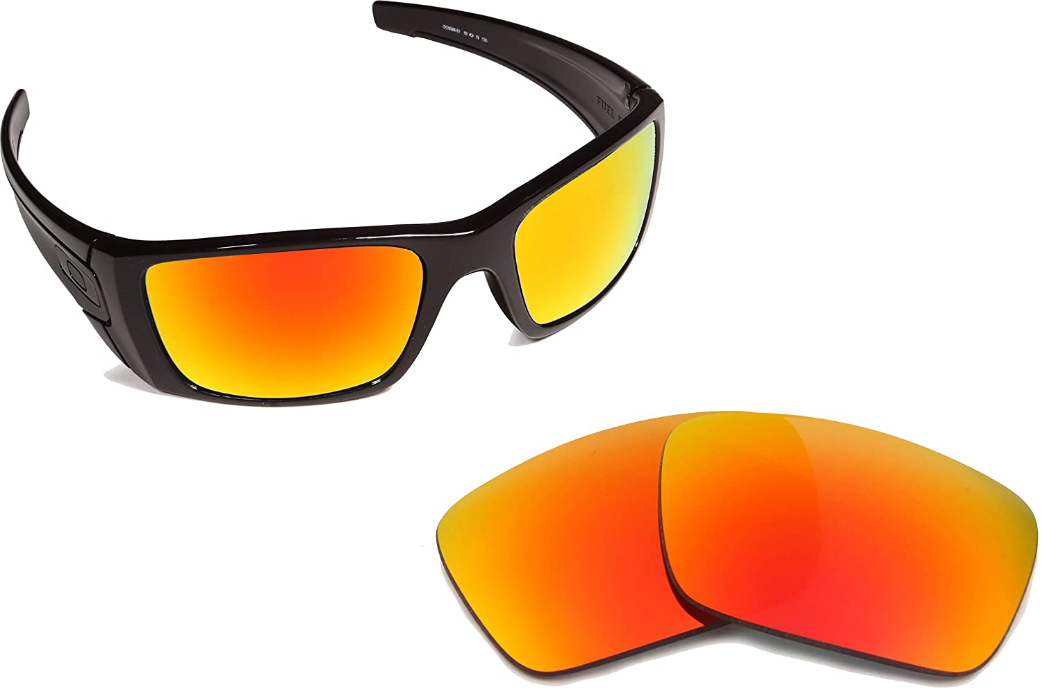 9c035bb4f7 Fuel Cell Replacement Lenses Polarized Red Mirror by SEEK fits OAKLEY  Sunglasses at Amazon Men s Clothing store