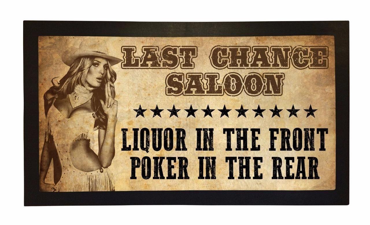 Bang Tidy Clothing Rubber Bar Mat Bar Runner Last Chance Saloon Spill Mat Gift Idea