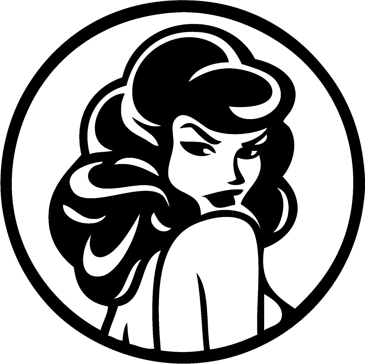 TDT Printing & Custom Decals Pin Up Vinyl Decal Sticker for Car or Truck Windows, Laptops etc.