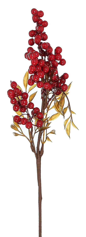 EOZY Flor Artificial Fruto Decoración para Navidad Boda Fiesta Trajeta 39CM Rojo