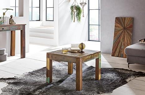 Tavolo Design In Legno : Tavolino delhi cm riciclaggio vintage tavolino in legno