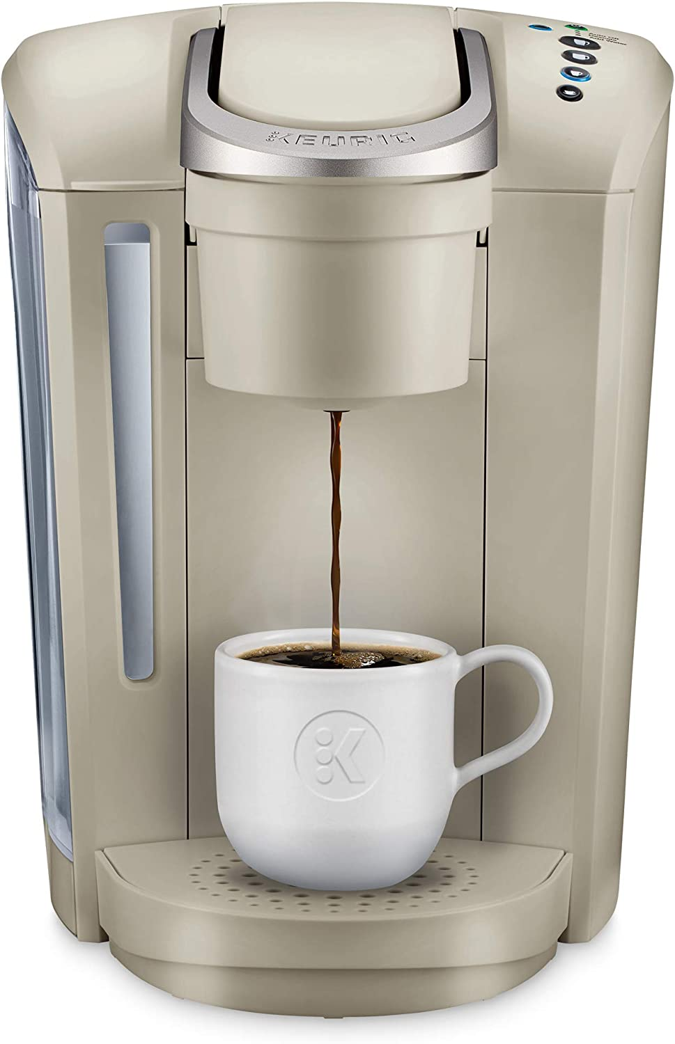Keurig K-Select Coffee Maker, Single Serve K-Cup Pod Coffee Brewer, With Strength Control and Hot Water On Demand, Sandstone