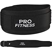 ProFitness Weight Lifting Belt (4 Inchs Wide) - Comfortable & Durable Weightlifting Workout Belt - Great Lower Back & Lumbar Support for Squats, Deadlifts, Gym Workouts - for Men & Women