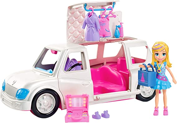 Amazon.com: Polly Pocket Arrive in Style Limo: Toys & Games