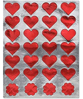 Inc Colored Foil Heart Stickers 20 Sheets 18571 Hygloss Products