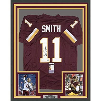 9b1194ca5 Alex Smith Signed Jersey - FRAMED 33x42 Burgundy COA - JSA Certified - Autographed  NFL Jerseys at Amazon's Sports Collectibles Store