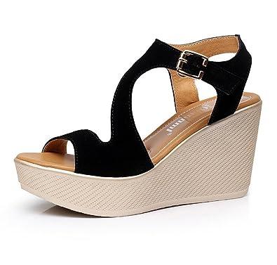 Pour En Sandales Femmes D'été Chaussures Cuir Talon Dandanjie srdtChQ