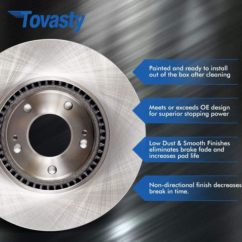 Tovasty Front and Rear Brake Kit OE Series Rotors and Ceramic Pads w//Hardware Clips /& Brake Cleaner /& Gloves BK740530211 For Toyota Sienna 11 2011 12 2012 13 2013 14 2014 15 2015