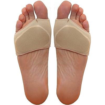 Medipaq Almohadilla de Gel para Soporte de Metatarso – Almohadilla Metatarsal de Alivio del Dolor de la Bola del Pie – Plantillas de Gel que Pueden Usarse Sin Zapatos – 1x Par – Talla Euro 36-41