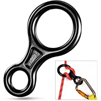 Oumers Rappel Gear Downhill Equipment, Descender Rappel Rock Climbing Descending Belaying Equipment Rappel Device 8 Rappel Ring Belay Device Gear Equipment for Outdoor Recreation, Strong Safe Durable