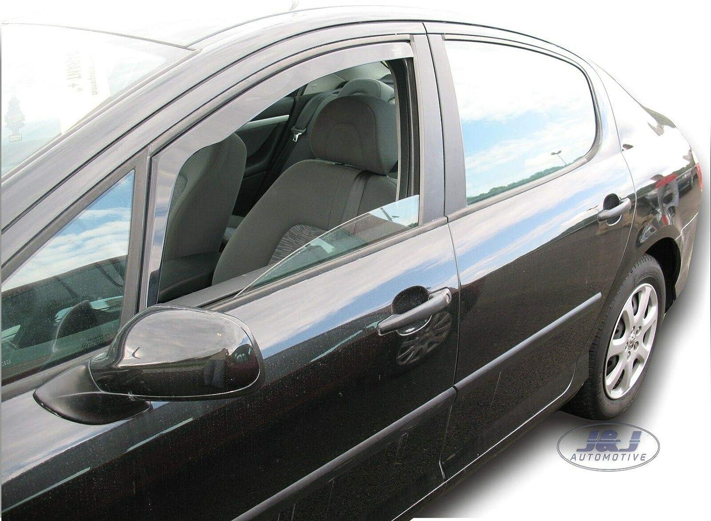 Deflecteurs dair D/éflecteurs de Vent Compatible avec Peugeot 407 4//5 P 2004-2012 2pcs J/&J AUTOMOTIVE
