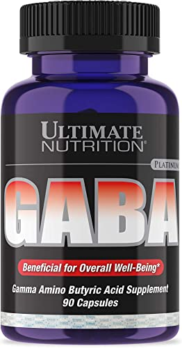 Ultimate Nutrition GABA Gamma Amino Butyric Acid Supplement 750mg 90 Capsules