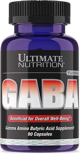 Ultimate Nutrition GABA Gamma Amino Butyric Acid Supplement 750mg 90 Capsule