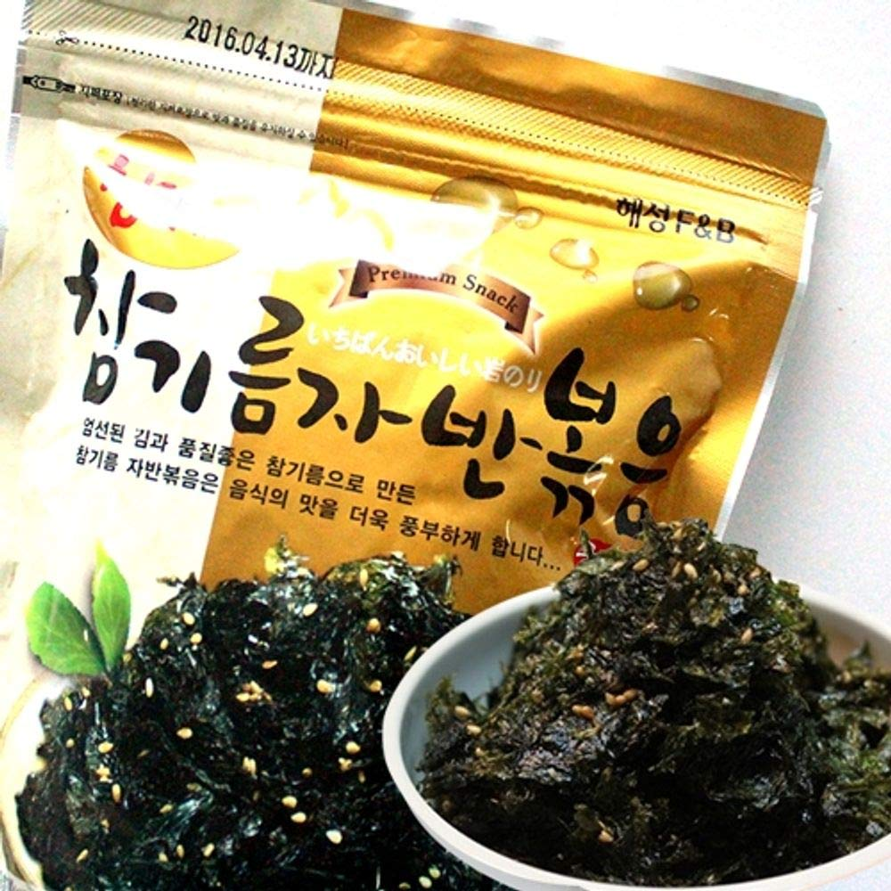 Fried Seaweed with Sesame Flavorful 50g x 5