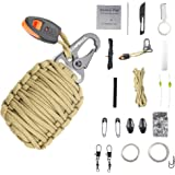 Emergency Survival Kit Grenade - 20 Accessories First Aid Kit Survival Wrapped in 550 lb Paracord Survival Grenade for Emergencies