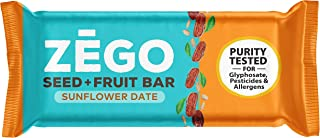 product image for ZEGO Seed + Fruit Bars, Sunflower Date, Non GMO, Organic, Vegan, Gluten Free, 38g (Pack of 9)