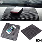 BuyKarNow Car Dashboard Mat Anti-Slip Gel, Non-Slip Mounting Pad for Cell Phone, Sunglasses, Keys and More (Black)