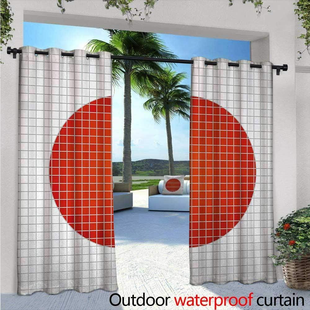 Cortinas abstractas para patio, diseño de mosaico con la bandera ...