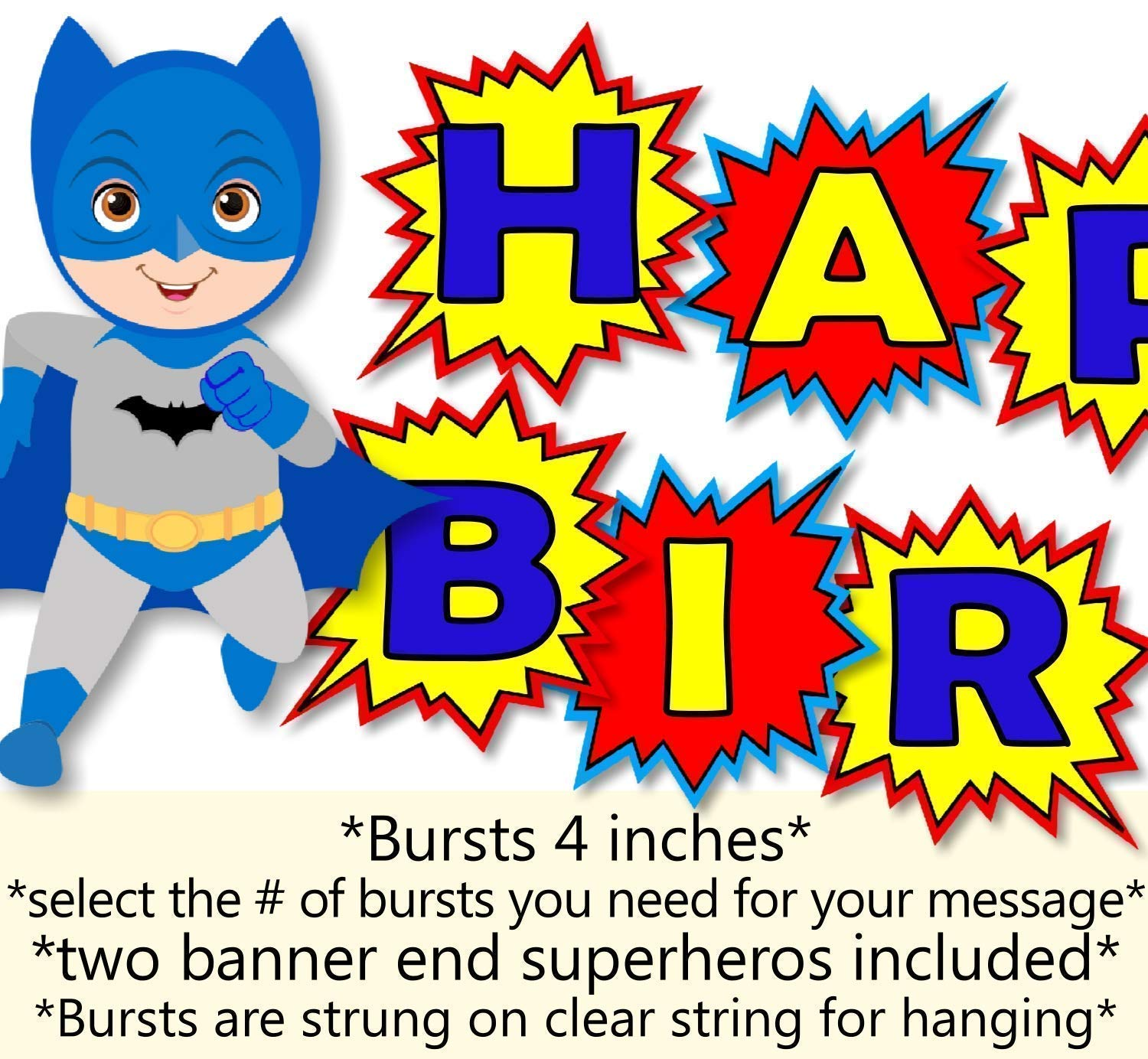 Captain America Birthday Banner Personalized Party Backdrop