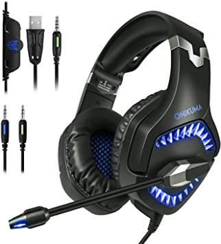 HOMVILLA Gaming Headset, Headsets, PS4 Auriculares con Micrófono ...