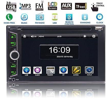 EinCar Autoradio - Reproductor multimedia para coche con Bluetooth, pantalla táctil de 6,2