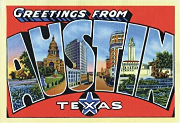 Amazon com: Greetings from Austin Texas, TX, Art, Vintage Postcard