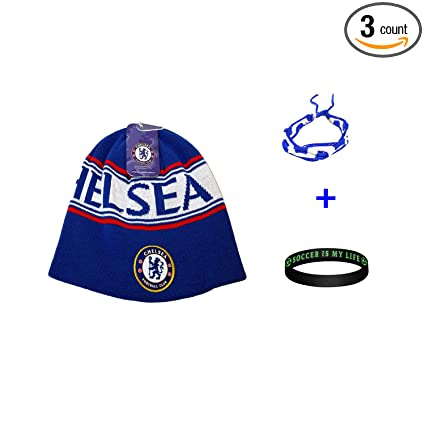 6484e61abde Image Unavailable. Image not available for. Color  Chelsea FC Soccer Beanie  ...