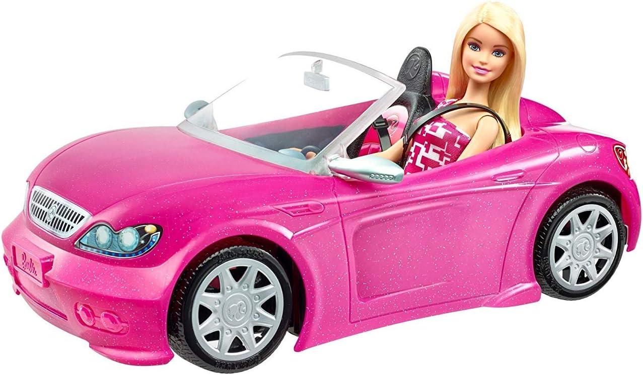 Barbie y su coche descapotable muñeca con coche, regalo para niñas y niños 3-9 años (Mattel DJR55) , color/modelo surtido