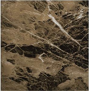 EZ FAUX DECOR Self Adhesive Marble Granite Vinyl Wallpaper Instantly Update Countertop Dark Brown Emperador Film 36